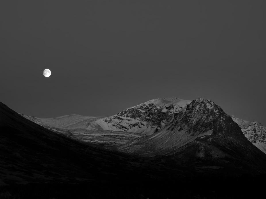 Moon over the Chugach